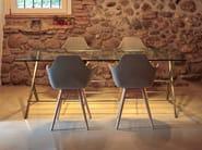 Sedia da ristorante con braccioli Y WOOD 2 by ALMA DESIGN