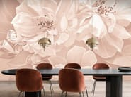 Ecological PVC free wallpaper with floral pattern OPHELIA POWDER PINK by BLOSS