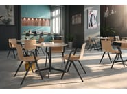 Stackable chair with armrests A-CHAIR | Chair with armrests by Brunner