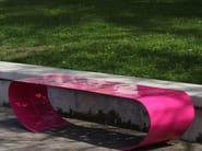Panchina in acciaio senza schienale