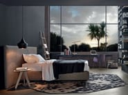 Fabric single bed with upholstered headboard arca single bed by poliform design paolo piva - Letto arca poliform ...