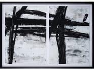 Canvas Painting Black Abstraction by NOVOCUADRO ART COMPANY