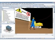BlumatiCAD Project sicurezza cantieri - area di scavo 3D