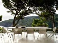 Rectangular powder coated aluminium garden table BRANCH | Rectangular table by TRIBÙ