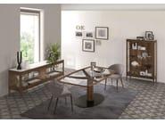 DIAMANTE   Tavolo in legno e vetro