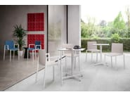 Technopolymer chair with armrests DRESS CLIPPERTON B by GABER