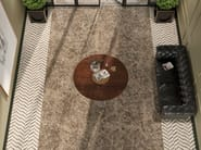 Porcelain stoneware wall/floor tiles with marble effect EMPERADOR BROWN by Revigrés