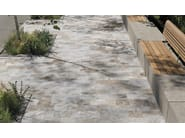 Porcelain stoneware outdoor floor tiles with stone effect EXTERNA QUARZITE RUST GREY by EmilCeramica by Emilgroup