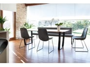 Upholstered bench wit steel base FOR US | Bench seating by Tonon