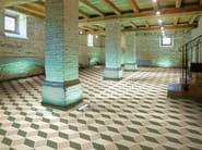 Indoor/outdoor full-body porcelain stoneware flooring HEX - RHOMB by ETRURIA design