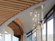 Indirect light glass pendant lamp INFINITY H16 by ILFARI