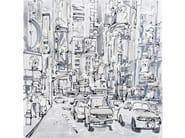 Canvas Painting La Carrera (b/w) by NOVOCUADRO ART COMPANY