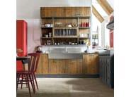 Cucina componibile in legno LAB 40 - COMPOSIZIONE 02 by Marchi Cucine