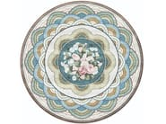 Handmade round silk rug LELEU ANETTE EFFLORESCENCE by Tapis Rouge