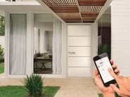 Security door with motorized opening system by smartphone MATIK App by VIGHI