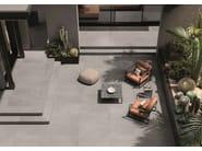 Porcelain stoneware wall/floor tiles terrazzo effect MEDLEY GREY by Ergon