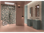 Porcelain stoneware wall/floor tiles terrazzo effect MEDLEY PINK by Ergon
