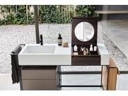 Mobile lavabo da terra con cassetti NARCISO by Ceramica Cielo