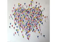 Canvas Painting People Heart in by NOVOCUADRO ART COMPANY