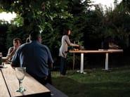 Tavolo da giardino / cucina da esterno FIELD KITCHEN by CASSECROUTE