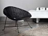 Garden steel and PVC easy chair SWEET 27 by Gervasoni