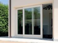 Porta-finestra complanare in legno