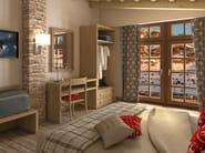 Melamine-faced chipboard writing desk for hotel rooms FASHION | Writing desk for hotel rooms by Mobilspazio