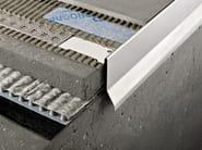 Profilo e scossalina per impermeabilizzazione in acciaio lucido