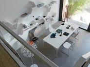 Libreria a parete componibile laccata SINAPSI by Casamania & Horm