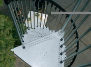 Outdoor galvanized steel Spiral staircase CIVIK ZINK by Fontanot