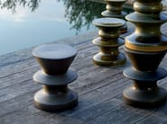 Table basse ronde en grès cérame ZEUS 6005 by Zanotta