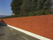 Rivestimento di facciata o recinzione in acciaio corten