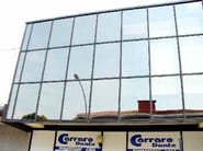 Pellicola per vetri a controllo solare Applicazione su parte parziale della facciata di pellicola sputtered ad uso esterno