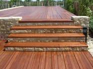 IROKO Pavimentazione con listoni di legno Iroko