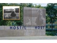 RECKLI® FOTO-INCISIONE Immagine originale e pannello in cls. realizzato con la matrice RECKLI FOTO-INCISIONE, monumento commemorativo ''Neue Bremm'', Saarbrücken (Germania)