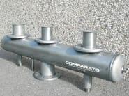 DIACOL Esempi di collettori di distribuzione caldaia, in acciaio INOX, eseguiti a disegno su richiesta del Cliente.