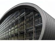 Zinco titanio VMZINC® Edificio Sede Tifs - Padova - Progettista: Arch Giovanna Mar - Finitura: Anthra-Zinc Plus ® e Quartz-Zinc Plus® - Tecnica: Megaroof, Copertura Compact (Vm Zinc Plus® + Foamglas®) e pannelli piani