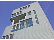 Zinco titanio VMZINC® Complesso edifici residenziali Torino (TO) - Arch. U.Bossolono - doghe orizzontali Quartz Zinc®