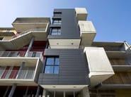 DOGHE VMZINC® Edificio residenziale, via Eraclito - Milano - progetto LPzR architetti (fotografie ©Piermario Ruggeri) - doghe orizzontali, finitura ANTHRA ZINC