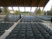 CUPOLEX Applicazione in cantiere di moduli per vespaio Cupolex e prolunga laterale Beton Stop