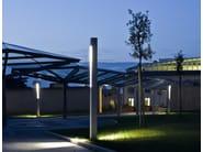 TETRA PARCO | Paletto luminoso per spazi illuminazione parchi pubblici con TETRA PARCO a LED con fonte luminosa agli ioduri metallici