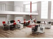 ONLINE SYSTEM ONLINE3 Postazione di lavoro - Scrivania singola con mobile portante - Scrivanie condivise con barra