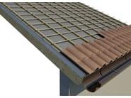 AIREK GESSO PANNELLO AUTOPORTANTE | Sistema per tetto ventilato SISTEMA DI POSA: MANTO DI COPERTURA IN TEGOLE O COPPI