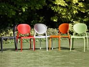 Medallion ergonomic stackable chair GIO by SCAB DESIGN