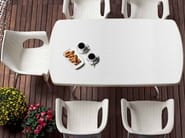 Ergonomic stackable technopolymer chair with armrests OLIMPIA   Chair with armrests by SCAB DESIGN