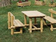 Mesa para espacios públicos de madera MONTANA LEGNO | Mesa para espacios públicos by INDUSTRIA LEGNAMI TIRANO
