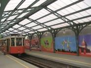 ARCOPLUS® 684-6104-6124 REVERSÒ Copertura in policarbonato. Stazione tramviaria. Torino