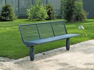 SIARDO 400 R | Panchina con schienale Panchina in acciaio inox con schienale