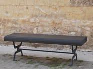 Panchina in acciaio zincato senza schienale
