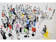 Canvas Painting Reuniones by NOVOCUADRO ART COMPANY